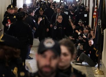Protesting Federal Workers Arrested Outside McConnell's Office
