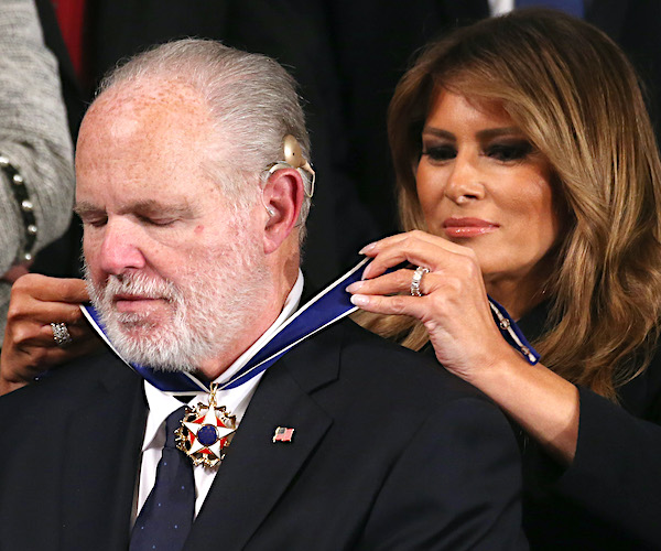 Trump Lifts Cancer-Stricken Limbaugh's Spirits With US Medal of Freedom